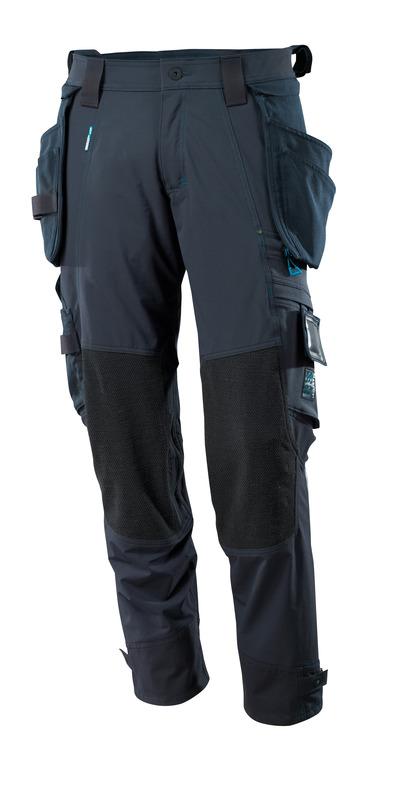 MASCOT® ADVANCED - mørk marine - Bukser med Dyneema®-knelommer og avtakbare hengelommer, fireveis-stretch, lav vekt