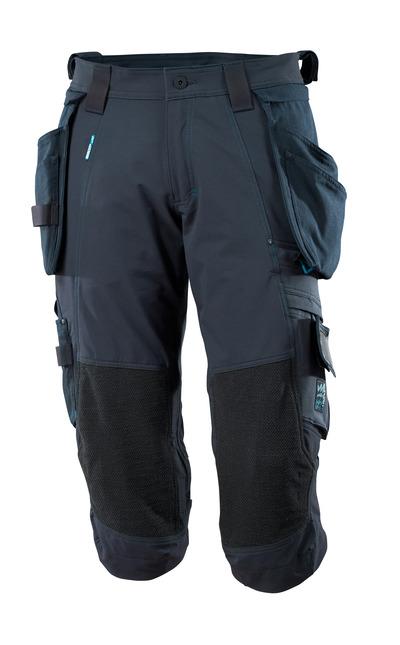 MASCOT® ADVANCED - mørk marine - Piratbukser med Dyneema®-knelommer og avtakbare hengelommer, fireveis-stretch, lav vekt