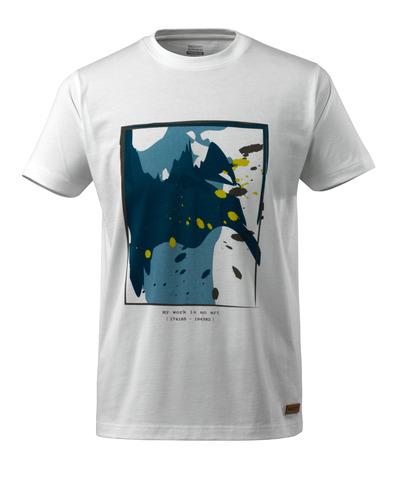 MASCOT® ADVANCED - hvit - T-skjorte med surfermotiv, moderne passform