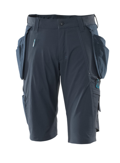 MASCOT® ADVANCED - mørk marine - Shorts med avtakbare CORDURA®-hengelommer, fireveis-stretch, lav vekt