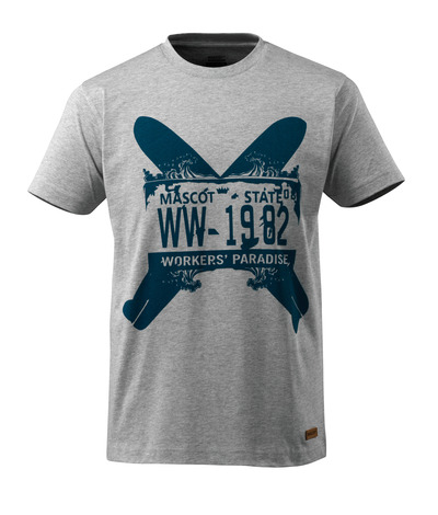 MASCOT® ADVANCED - grå melert - T-skjorte med to surfebrett, moderne passform