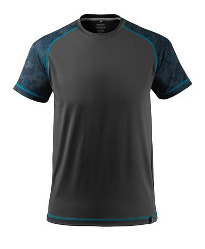 MASCOT® ADVANCED - svart - T-skjorte, fukttransporterende, moderne passform