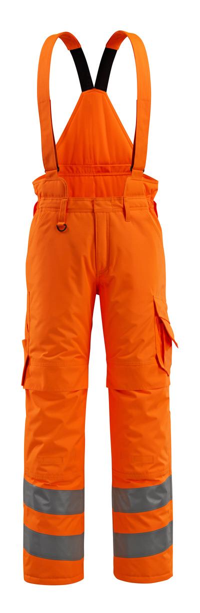 MASCOT® Ashford - hi-vis oransje - Vinterbukse med quiltfôr og avtakbare seler, vanntett