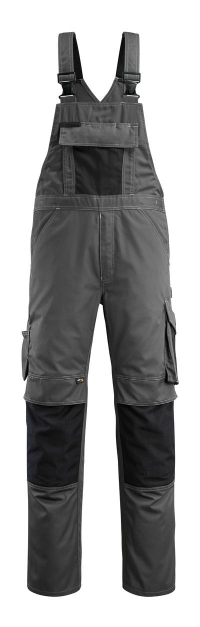 MASCOT® Augsburg - mørk antrasitt/svart - Overall med knelommer, lav vekt