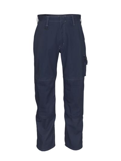 MASCOT® Biloxi - mørk marine - Bukser med knelommer, bomull