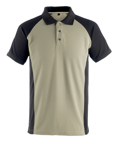 MASCOT® Bottrop - lys kaki/svart* - Pikéskjorte