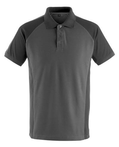 MASCOT® Bottrop - mørk antrasitt/svart - Pikéskjorte, moderne passform