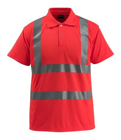 MASCOT® Bowen - hi-vis rød - Pikéskjorte, klassisk passform, klasse 2