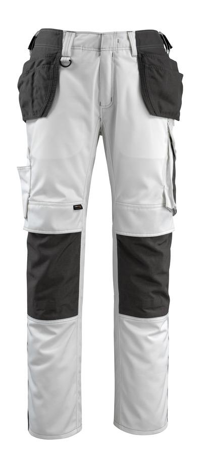 MASCOT® Bremen - hvit/mørk antrasitt - Bukser med CORDURA® kne- og hengelommer, god slitestyrke