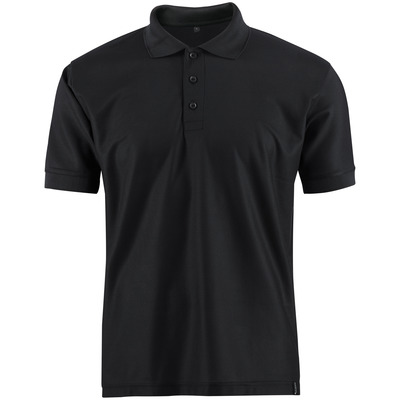 MASCOT® CROSSOVER - svart - Pikéskjorte, svettetransporterende CoolDry, moderne passform