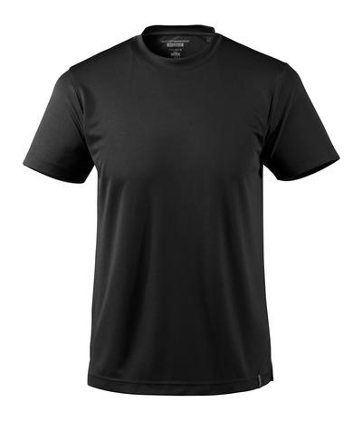 MASCOT® CROSSOVER - svart - T-skjorte, svettetransporterende CoolDry, moderne passform