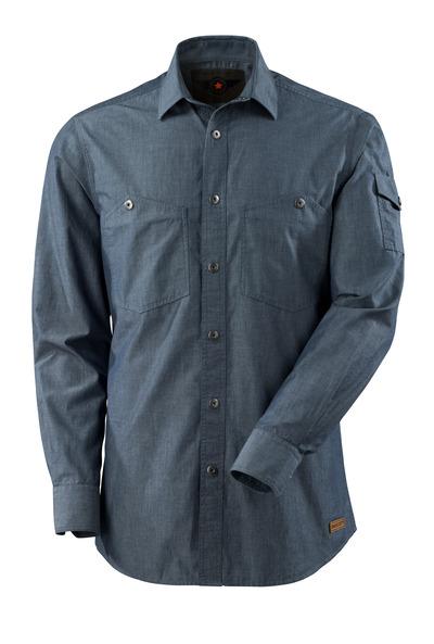 MASCOT® CROSSOVER - vasket mørk blå denim - Skjorte chambray.