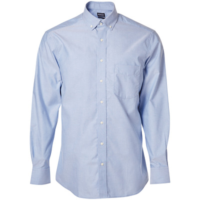MASCOT® CROSSOVER - lys blå - Skjorte, oxford, klassisk passform