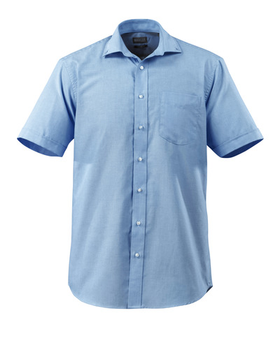 MASCOT® CROSSOVER - lys blå - Skjorte, kortermet, oxford, klassisk passform