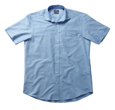 MASCOT® CROSSOVER - lys blå - Skjorte Oxford, klassisk passform, korte ermer.