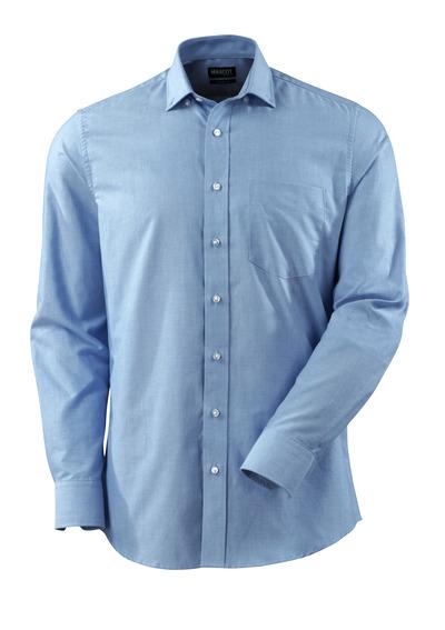 MASCOT® CROSSOVER - lys blå - Skjorte Oxford, moderne passform, lange ermer.