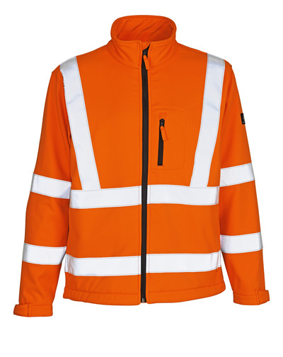 MASCOT® Calgary - hi-vis oransje - Softshelljakke med fleece på innsiden, kl. 3