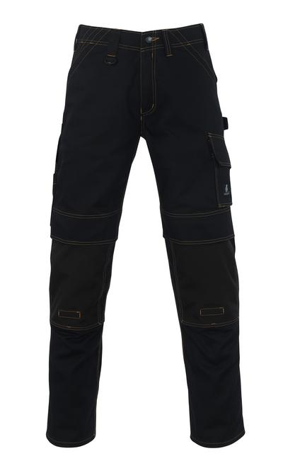 MASCOT® Calvos - svart - Bukser med CORDURA®-knelommer, god slitestyrke