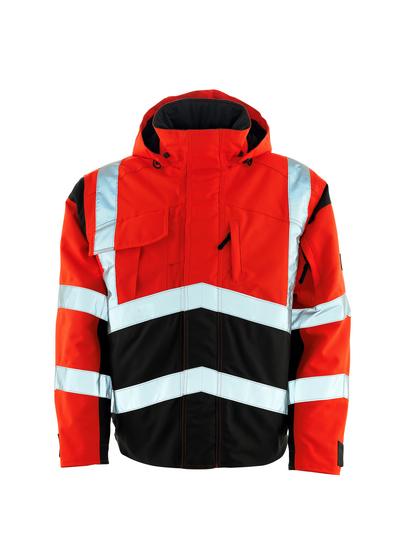 MASCOT® Camina - hi-vis rød/mørk antrasitt - Pilotjakke med quiltfôr, vanntett MASCOTEX®, klasse 2