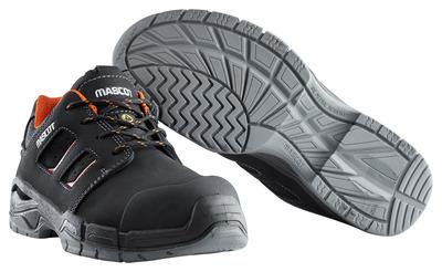MASCOT® Diran - svart/mørk oransje - Vernesko S3 med skolisser