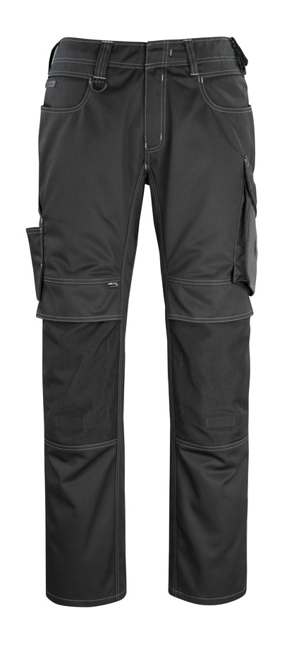 MASCOT® Erlangen - svart/mørk antrasitt - Bukser med CORDURA®-knelommer, god slitestyrke