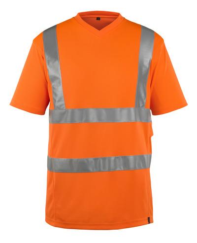 MASCOT® Espinosa - hi-vis oransje - T-skjorte, V-hals, moderne passform, klasse 2