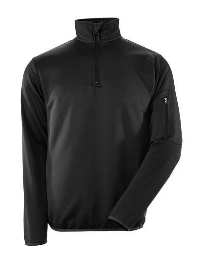 MASCOT® Estela - svart/mørk antrasitt - Pologenser med glidelås, moderne passform, fukttransporterende