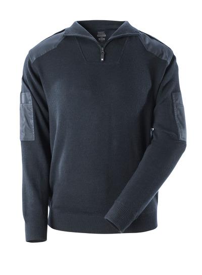 MASCOT® FRONTLINE - mørk marine - Strikkegenser med forsterkninger, med ull.