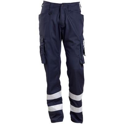 MASCOT® FRONTLINE - mørk marine - Bukser med lårlommer, refleksbånd, meget lav vekt