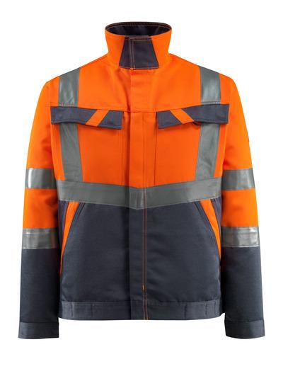 MASCOT® Forster - hi-vis oransje/mørk marine - Jakke, lav vekt, klasse 2