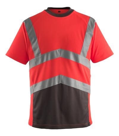 MASCOT® Gandra - hi-vis rød/mørk antrasitt* - T-skjorte, moderne passform, klasse 2