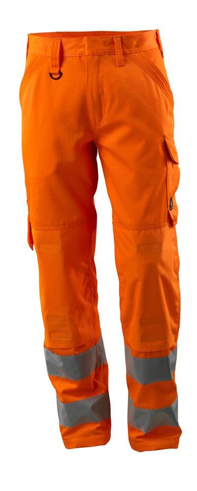 MASCOT® Geraldton - hi-vis oransje - Bukse med knelommer, ensfarget, klasse 2.