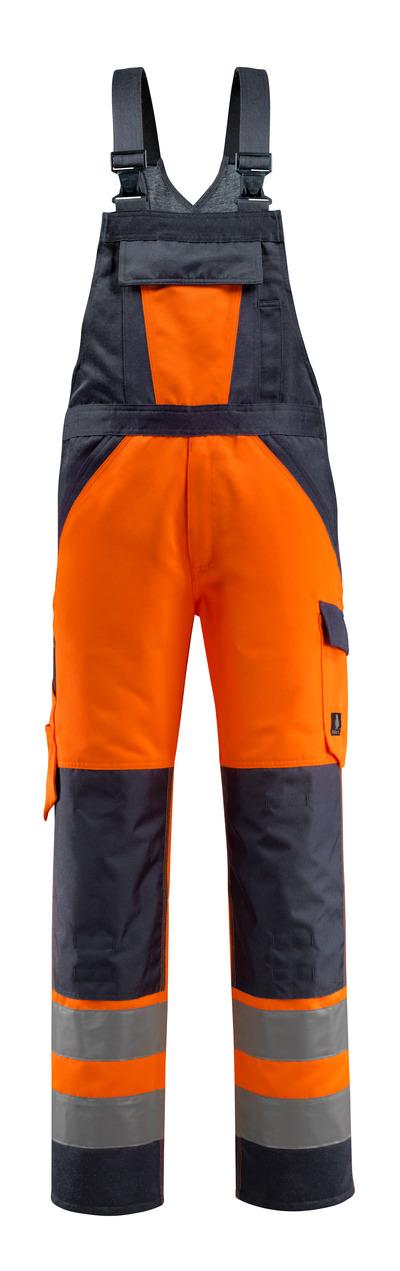 MASCOT® Gosford - hi-vis oransje/mørk marine - Overall med knelommer, klasse 2