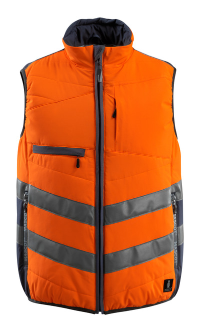 MASCOT® Grimsby - hi-vis oransje/mørk marine - Vest, vattert, vannavvisende