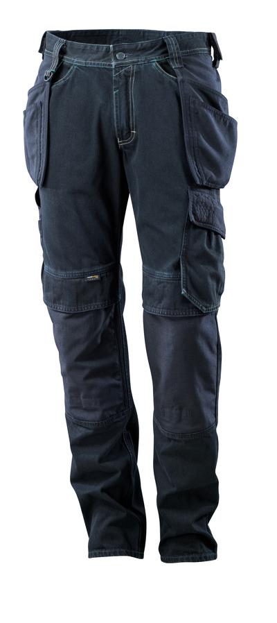 MASCOT® HARDWEAR - mørk blå denim - Jeans med hengelommer, ekstra slitesterk.