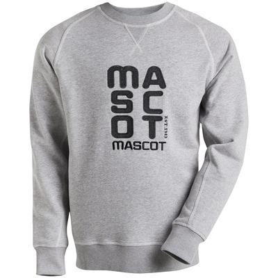 MASCOT® HARDWEAR - grå melert - Collegegenser med brodert MASCOT, moderne passform