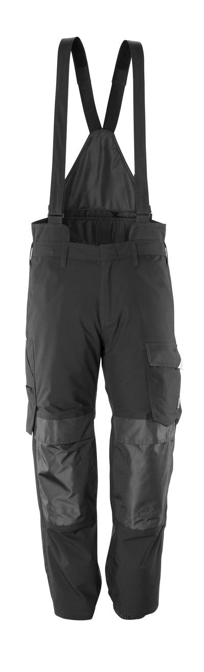 MASCOT® HARDWEAR - svart - Overtrekksbukse med knelommer, vind- og vanntett