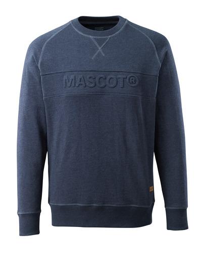 MASCOT® HARDWEAR - vasket mørk blå denim - Collegegenser med innpreget MASCOT, moderne passform