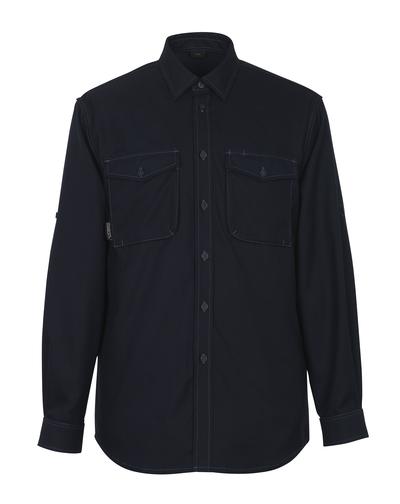 MASCOT® Hampton - mørk marine - Skjorte, moderne passform