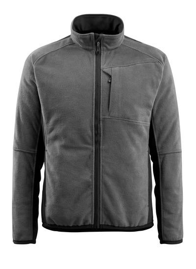 MASCOT® Hannover - mørk antrasitt/svart - Fleecejakke, forlenget rygg