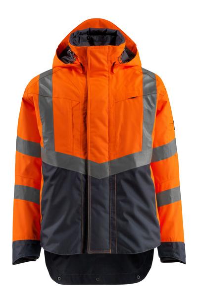 MASCOT® Harlow - hi-vis oransje/mørk marine - Skalljakke, vanntett, klasse 3