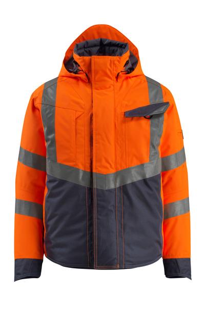 MASCOT® Hastings - hi-vis oransje/mørk marine - Vinterjakke, vattert, vanntett, klasse 3