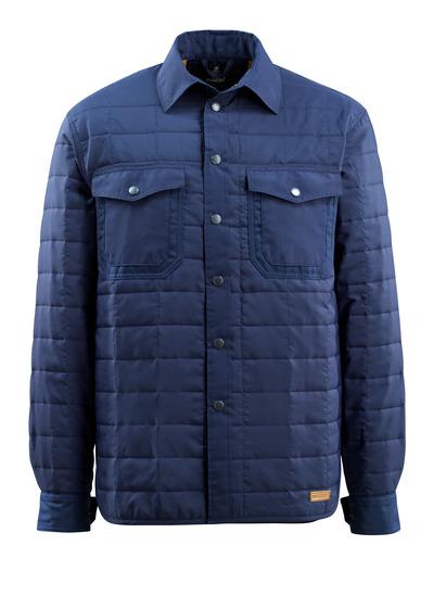 MASCOT® Hoboken - marine - Skjorte med fôr og trykknapper