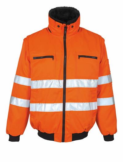 MASCOT® Innsbruck - hi-vis oransje - Pilotjakke med uttakbart pelsfôr, vannavvisende, klasse 2