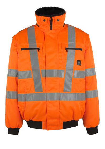 MASCOT® Innsbruck - hi-vis oransje - Pilotjakke med uttakbart pelsfôr, vannavvisende, klasse 3