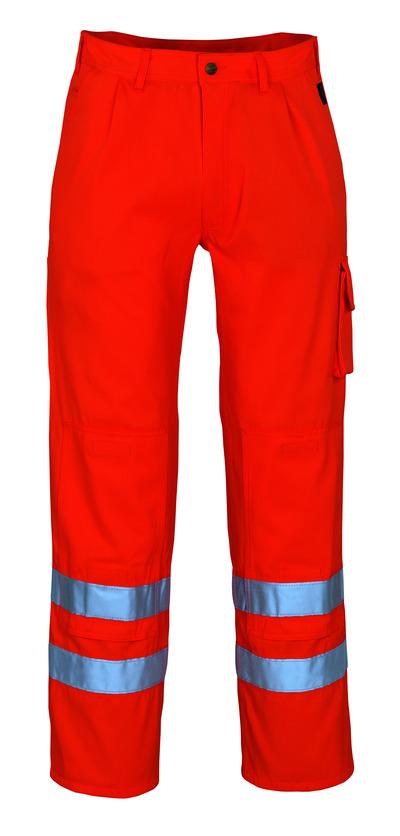 MASCOT® Iowa - hi-vis oransje* - Bukser med knelommer