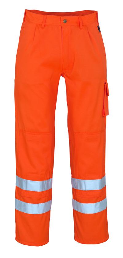MASCOT® Iowa - hi-vis oransje* - Bukser med knelommer, klasse 1/2