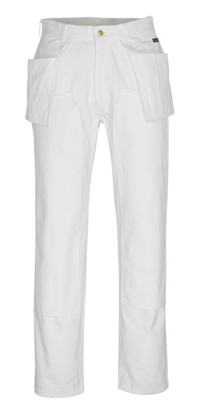 MASCOT® Jackson - hvit* - Bukser med kne- og hengelommer