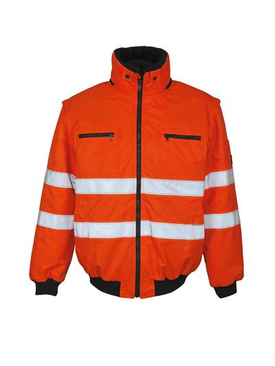 MASCOT® Kaprun - hi-vis oransje - Pilotjakke med uttakbart pelsfôr, vannavvisende, klasse 3