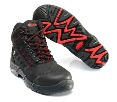 MASCOT® Kenya - svart/rød - Vernestøvler S3 med skolisser